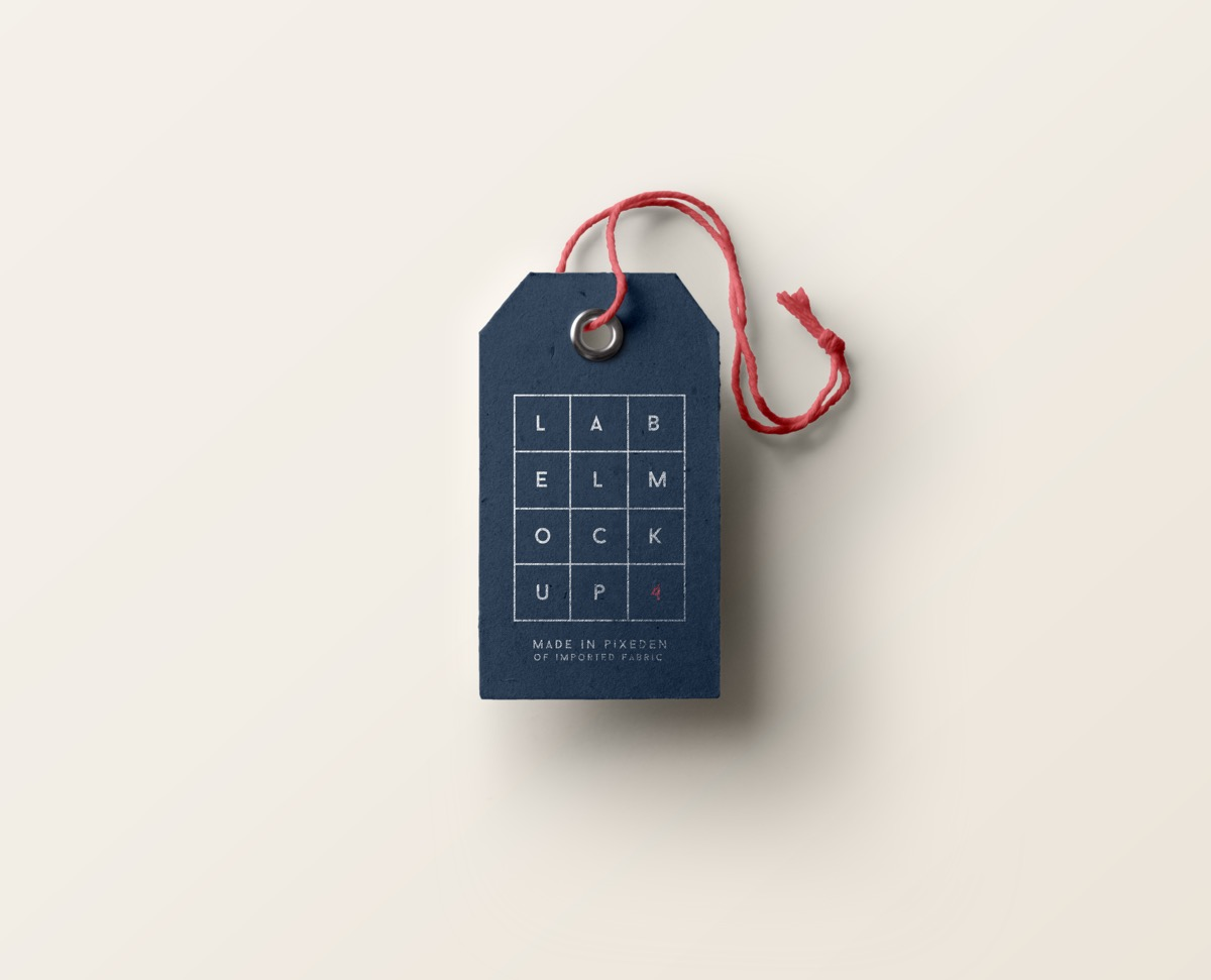 Grid Pattern Product And Clothing Tag
